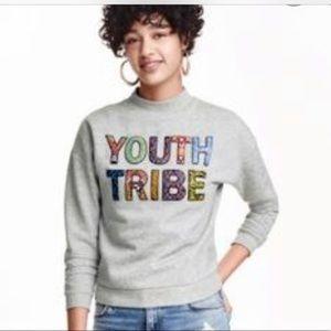 H&M Divided Womens Sweatshirt (Youth Tribe Gray)